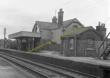 Fordham Railway Station Photo. Newmarket to Soham and Mildenhall Lines. (7)