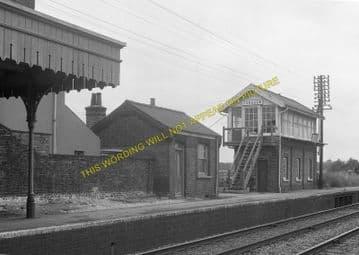 Fordham Railway Station Photo. Newmarket to Soham and Mildenhall Lines. (8)