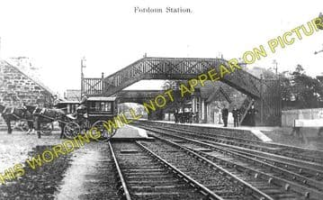 Fordoun Railway Station Photo. Laurencekirk - Drumlithie. Montrose Line. (1)