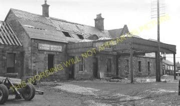 Forfar Railway Station Photo. Caledonian Railway. (5)