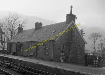 Forsinard Railway Station Photo. Kinbrace - Altnabreac. Highland Railway. (2)
