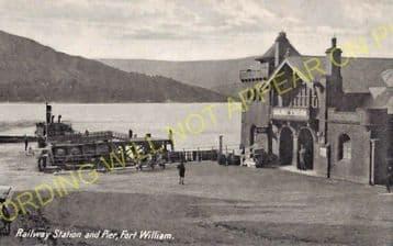 Fort William Railway Station Photo. Spean Bridge and Banavie Lines. NBR. (11)