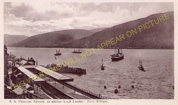 Fort William Railway Station Photo. Spean Bridge and Banavie Lines. NBR. (12)