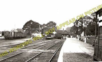 Freshwater Railway Station Photo. Yarmouth and Newport Line. Isle of Wight. (1)..