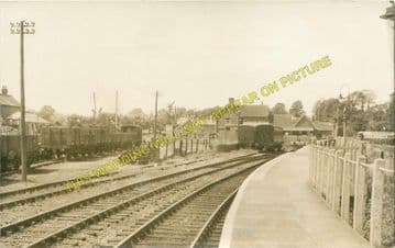 Freshwater Railway Station Photo. Yarmouth and Newport Line. Isle of Wight. (7)