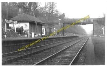 Fushiebridge Railway Station Photo. Tynehead - Gorebridge. Fountainhall Line (1)..
