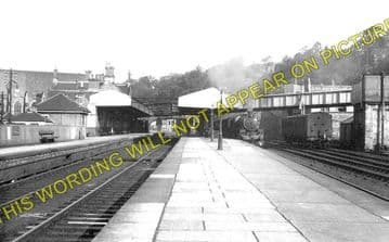 Galashiels Railway Station Photo. Bowland - Melrose. North British Railway. (1)