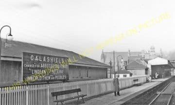 Galashiels Railway Station Photo. Bowland - Melrose. North British Railway. (3).