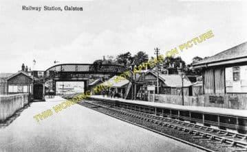 Galston Railway Station Photo. Newmilns - Hurlford. Darvel to Kilmarnock. (1)..