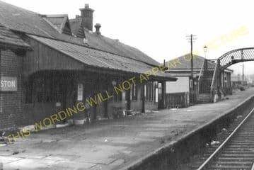 Galston Railway Station Photo. Newmilns - Hurlford. Darvel to Kilmarnock. (2)