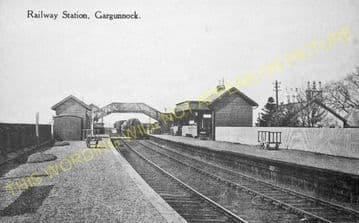 Gargunnock Railway Station Photo. Stirling - Kippen. North British Railway. (2)