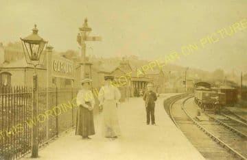 Garnant Railway Station Photo. Brynamman - Glanamman. Ammanford Line. (1)..