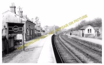 Garth Railway Station Photo. Llangammarch Wells -  Cilmery. Builth Wells Line (1)