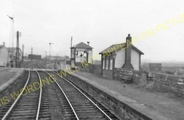 Gatehead Railway Station Photo. Drybridge to St. Marnocks and Galston Lines. (2)..