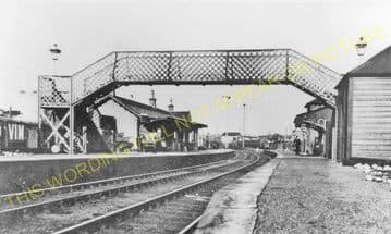 Giffnock Railway Station Photo. Thornlibank - Clarkston & Eaglesham. (4)