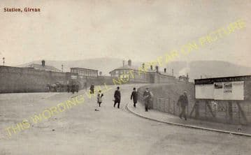 Girvan Railway Station Photo. Pinmore to Killochan and Turnberry Lines. GSWR (5)