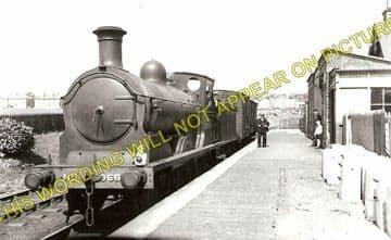 Glencorse Railway Station Photo. Roslin, Polton and Laswade Line. NBR. (1)