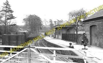Glenfield Railway Station Photo. Leicester - Desford. Midland Railway. (1)