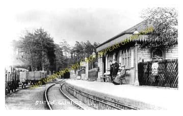 Glenfield Railway Station Photo. Leicester - Desford. Midland Railway. (3)