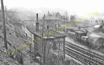 Gorebridge Railway Station Photo. Fushiebridge - Newtongrange. (1)..