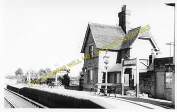 Grafham Railway Station Photo. Kimbolton - Buckden. Huntingdon Line. (1).