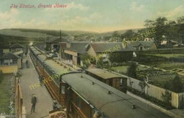 Grantshouse Railway Station Photo. Reston - Cockburnspath. North British Rly. (2