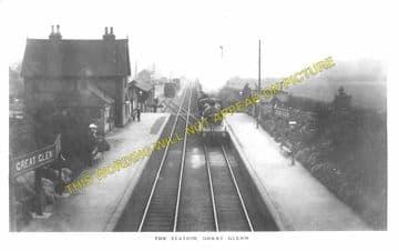 Great Glen Railway Station Photo. Wigston - Kibworth. Leicester Line. (1)