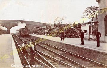 Great Glen Railway Station Photo. Wigston - Kibworth. Leicester Line. (2).