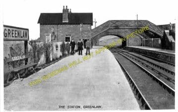 Greenlaw Railway Station Photo. Gordon - Marchmont. St. Boswells to Reston. (1)