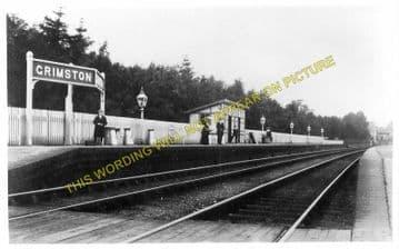 Grimston Railway Station Photo. Melton Mowbary - Old Dalby. Nottingham Line (1)..