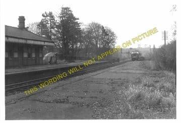 Grimston Railway Station Photo. Melton Mowbary - Old Dalby. Nottingham Line (10)