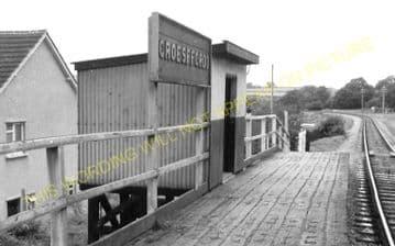 Groesffordd Railway Station Photo. Brecon - Talyllyn Jct. Brecon & Merthyr. (3)