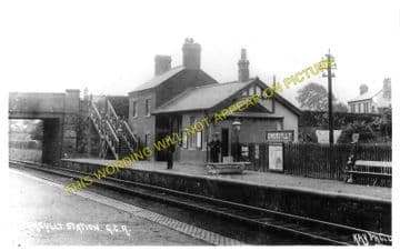 Gwersyllt Railway Station Photo. Wrexham - Cefn-y-Bedd. Buckley Line. GCR. (1)