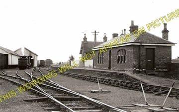 Haddington Railway Station Photo. Longniddry Line. North British Railway. (1)