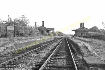Hallaton Railway Station Photo.  Market Harborough - East Norton. (1).