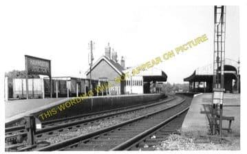 Hamworthy Junction Railway Station Photo. Broadstone - Wareham. L&SWR. (3)