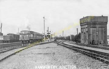 Hamworthy Junction Railway Station Photo. Broadstone - Wareham. L&SWR. (7)