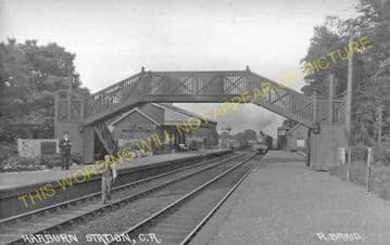 Harburn Railway Station Photo. Midcalder - Cobbinshaw. Carstairs Line. (2)