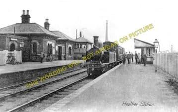 Heather & Ibstock Railway Station Photo. Shackerstone - Hugglescote. (1)