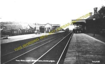Hirwain Railway Station Photo. Aberdare - Rhigos. Merthyr to Glyn Neath Line (2)