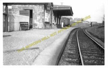 Hollybush Railway Station Photo. Ayr - Holehouse. Damellington Line. G&SWR (2)