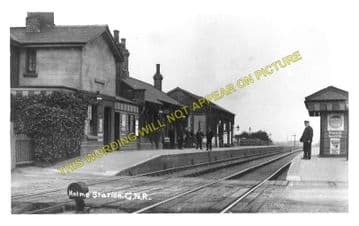 Holme Railway Station Photo. Abbots Ripton to Yaxley & Farcet and Ramsey. (1)