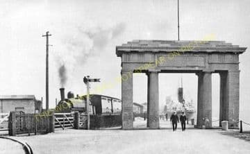 Holyhead Admiralty Pier Railway Station Photo. London & North Western Rly (1)..