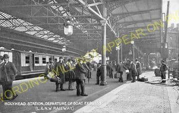 Holyhead Railway Station Photo. London & North Western Railway. (23)