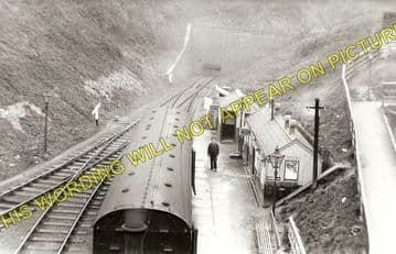 Holywell Town Railway Station Photo. Holywell Junction Line. L&NWR. (1)