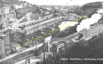 Holywell Town Railway Station Photo. Holywell Junction Line. L&NWR. (9)