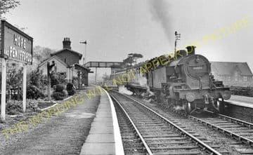 Hope & Penyffordd Railway Station Photo. Kinnerton - Padeswood & Buckley. (2)