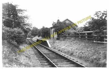 Humbie Railway Station Photo. Gifford - Saltoun. Pencaitland and Ormiston. (1)..