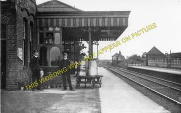 Ingersby Railway Station Photo. Lowersby - Thurnby & Scraptoft. (2)