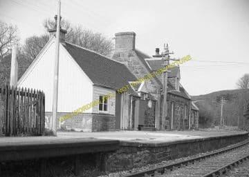 Invershin Railway Station Photo. Culrain - Lairg. Bonar Bridge to Rogart. (4)